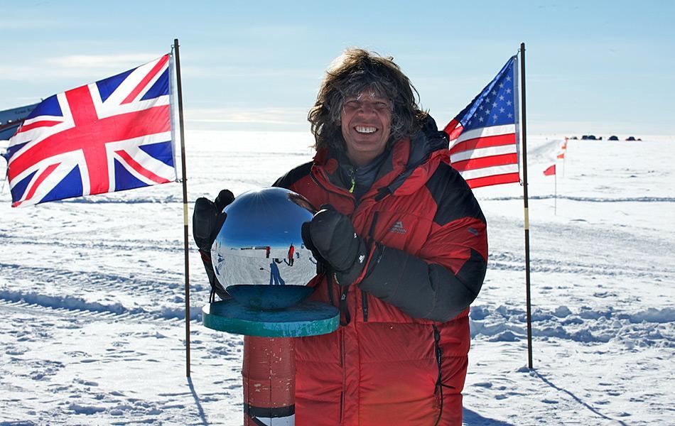 Michael Martin am geographischen Südpol