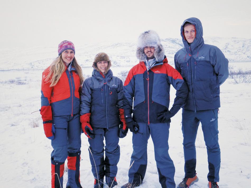 Die vier Neuentdecker sind keine unbeschriebenen Expeditionsblätter. Alle vier haben bereits auf verschiedenen anderen Expeditionen in der Welt teilgenommen und wollen nun sowohl sich wie auch andere junge Leute inspirieren, die Welt zu entdecken. Bild: Antarctic Heritage Trust