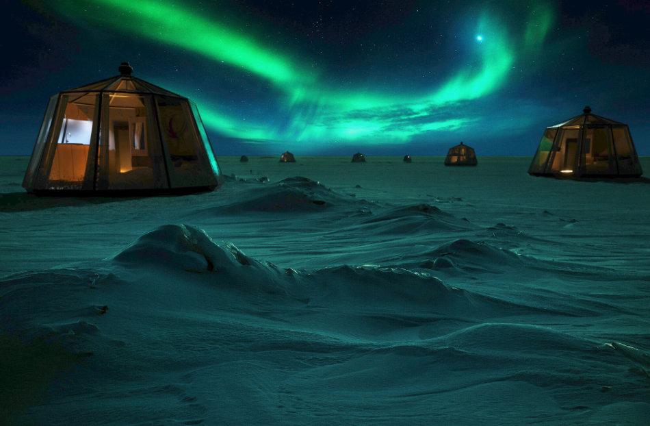 Ein warmes Bett an einem der unwirtlichsten Orte der Welt. Wer genügend Geld hat, kann sich diesen Luxus ab nächstem Jahr leisten. (Bild: Luxury Action)