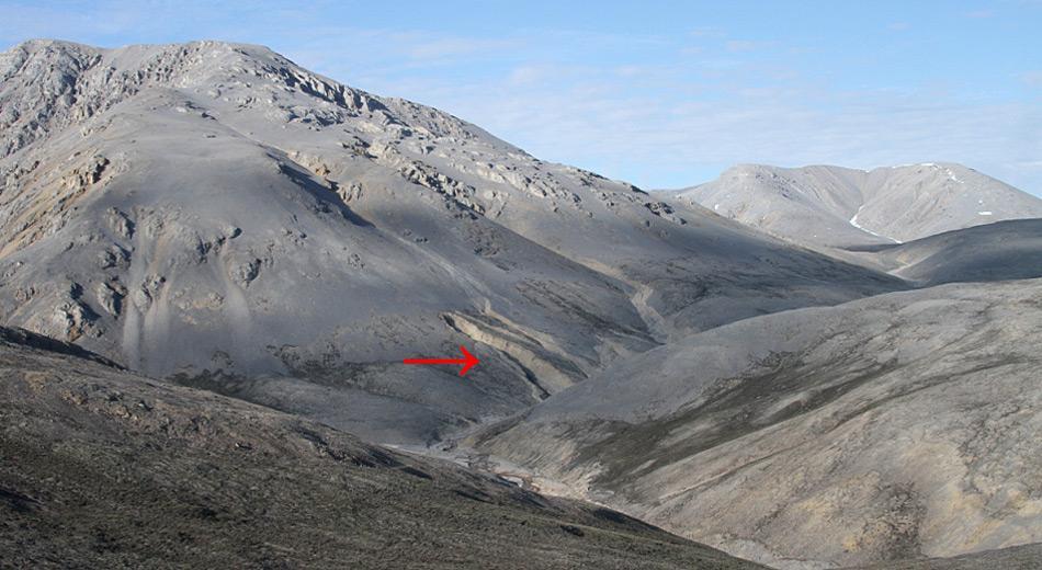 im Norden Kanadas entspringt mitten in einer Permafrost-Region die Quelle.