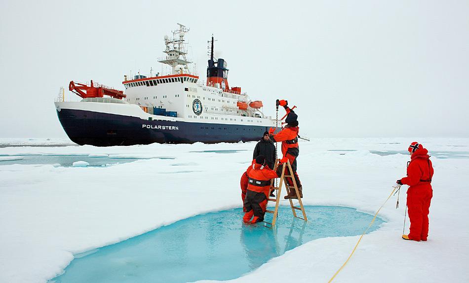 Teilnehmer EU-PolarNets arbeiten eng zusammen, so dass zukünftige Forschungsprojekte besser von der erstklassigen polaren Infrastruktur der europäischen Institute profitieren können. Foto: Stefan Hendricks, AWI