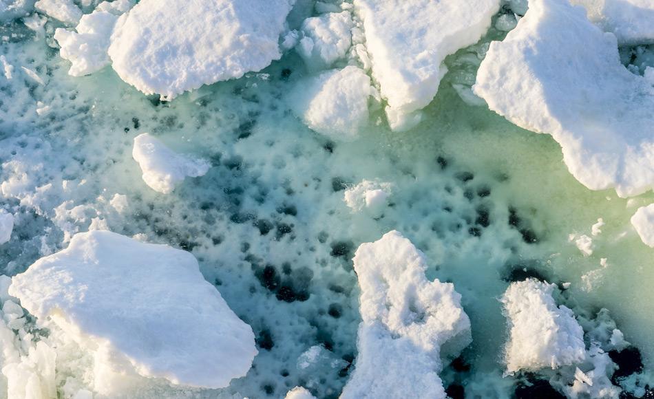 Das arktische Meereis wird nur dann eine langfristige Überlebenschance haben, wenn die globale Erwärmung auf unter 1,5 °C begrenzt werden kann. Dies erfordert eine erhebliche Reduzierung der Kohlendioxidemissionen. Bild: Katja Riedel